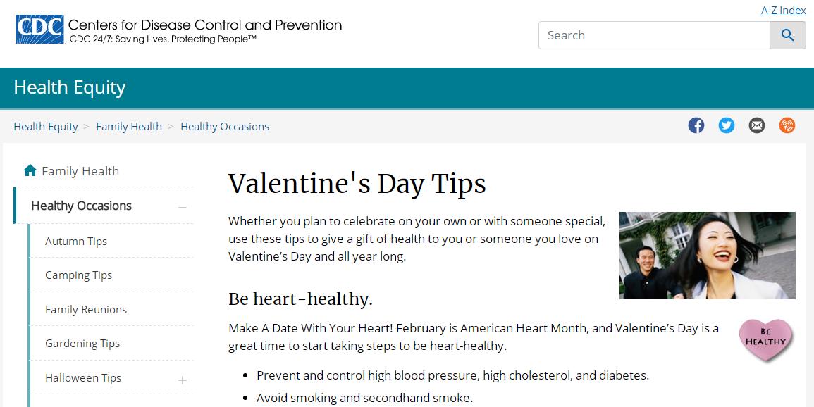 要浪漫更要安全!美国疾控中心教你如何健康过情人节