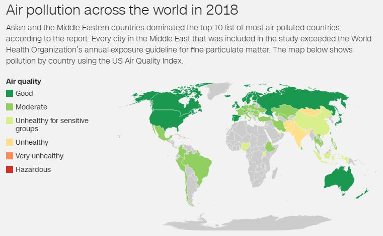 最新全球污染最严重城市名单发布!中国明显改善