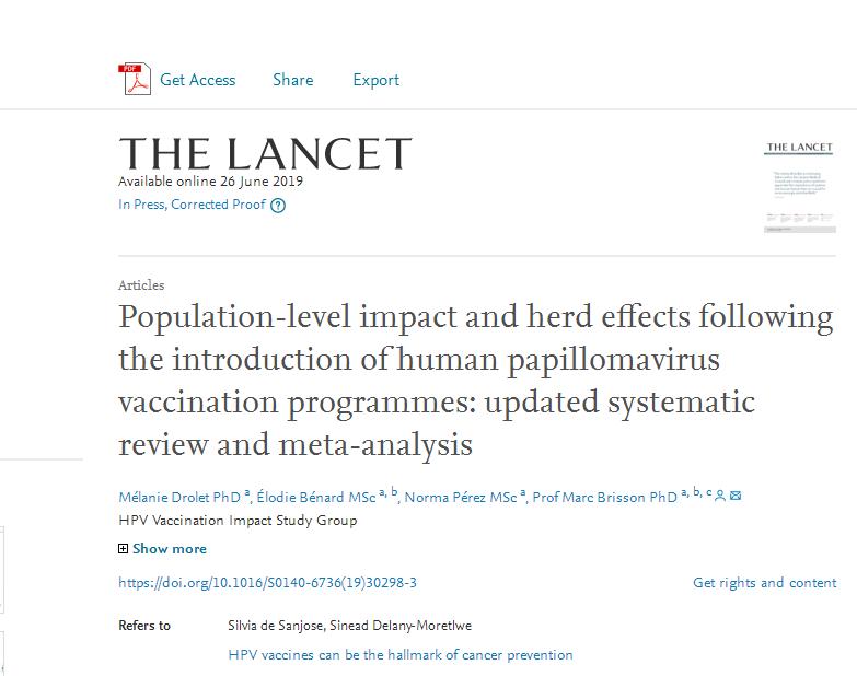 世卫组织:广泛接种HPV疫苗或可消除宫颈癌