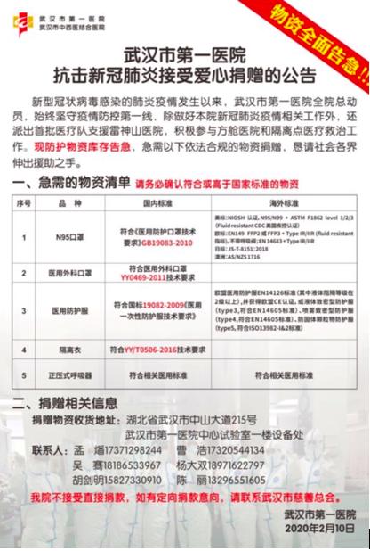 全国都支援武汉了,为什么有的医院物资还是告急?