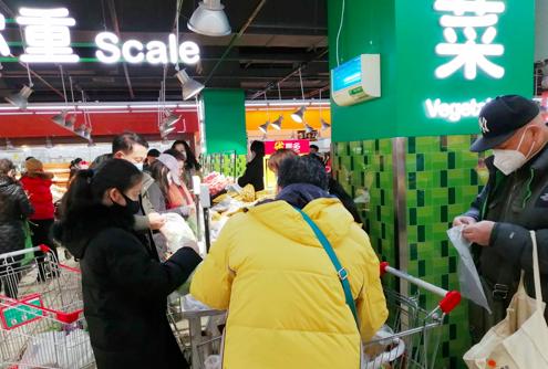 做好防护,超市成了新聚集区