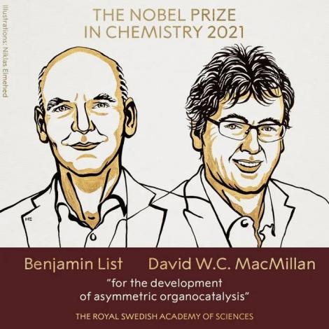 2021年诺贝尔化学奖公布,对医药研究有重要意义